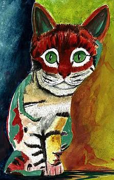 Cat Around Corner by Steven W Schultz