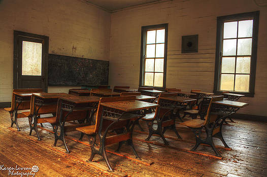 Cataloochee Schoolhouse by Karen Lawson