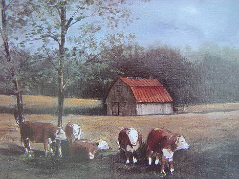 Cattle Farm by Charles Roy Smith