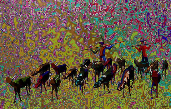 Cattle herdsmen by Harold Egbune