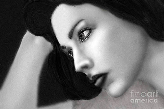 Caught in a day dream full black and white by Christina McMillen