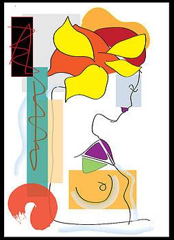 Celestial Nefertiti- artwork   by Frank  Gulsftream