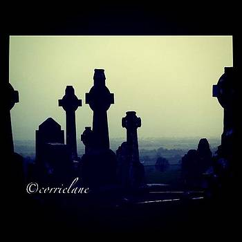 Cemetery Atop A Hill: Roscrae, Ireland by Corrie Pannell Fleming