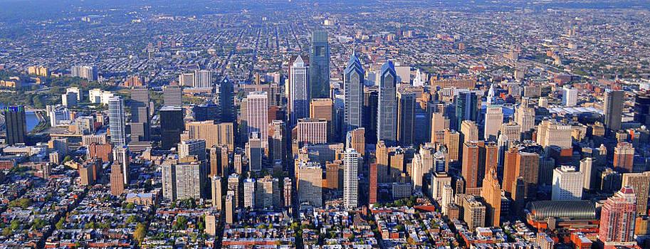 Duncan Pearson - Center City Aerial Photograph Skyline Philadelphia Pennsylvania 19103