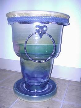 Ceramic drum by Hunter Quarterman
