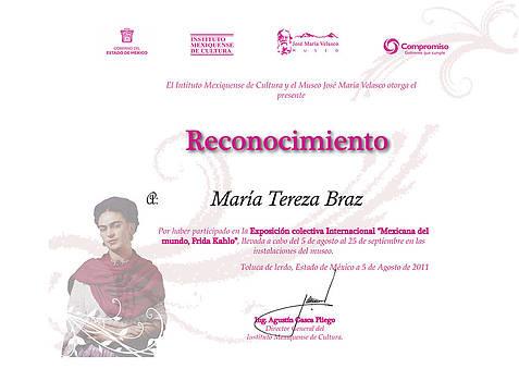 Certificado by Maria tereza Braz
