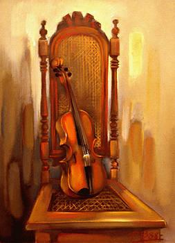 Chair With Violin by Vesa Valova