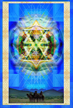 Chalice Star over Three Kings Holiday Card XBBrtIII by Christopher Pringer