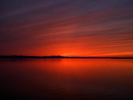 Champlain Sunset by Jeff Moose
