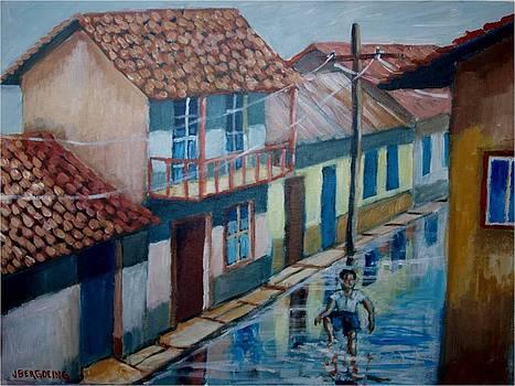 Chapoteando en la calle mojada by Jean Pierre Bergoeing