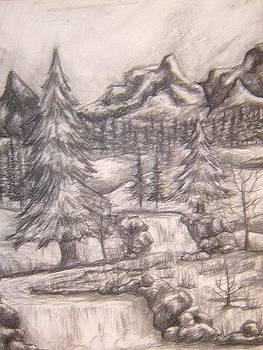 Charcoal Mountains  by Natasha  Malpeli