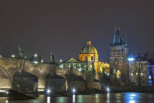 Charles bridge Prague by Travel Images Worldwide
