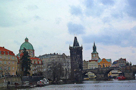 Charles Street Bridge and Old Town Prague by Paul Pobiak