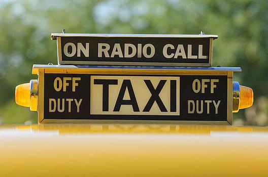 Jill Reger - Checker Taxi Cab Duty Sign