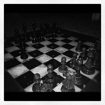 Chess In The Garden At The Delano by Susan Smela