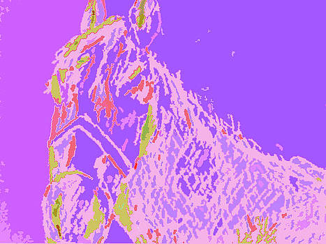 Forartsake Studio - Cheval in Violet - The Horse