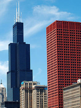 Chicago CNA and Sears Tower by Richard Christensen