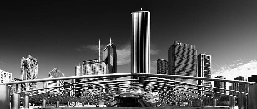 Chicago in Black and White by Slava Shamanoff