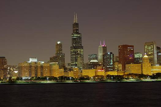 Peter Ciro - Chicago Night Skyline