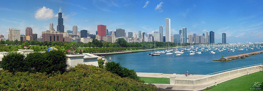 Chicago Skyline by Kenneth Hadlock