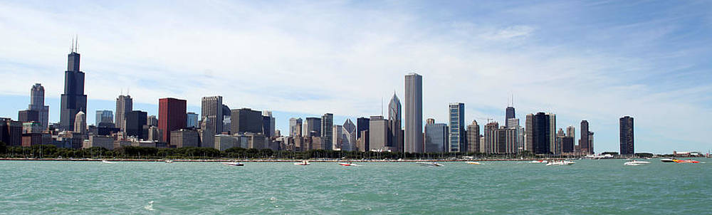 Chicago skyline panorama by Yigal Gvili