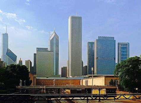 Frank Winters - Chicago Skyline With Train Tracks