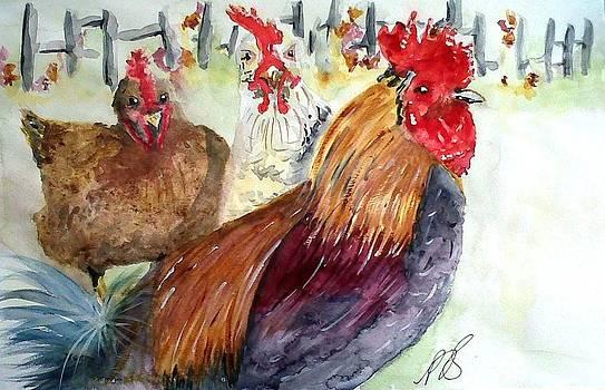Chickens II. by Paula Steffensen