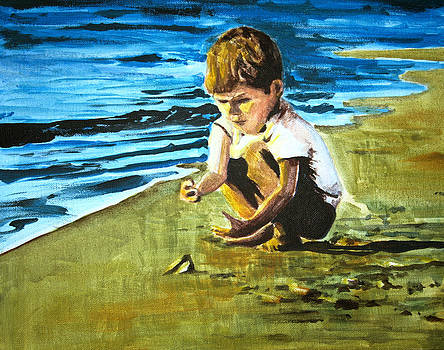 Paul Mitchell - Child on Beach 6