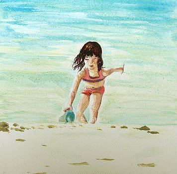 Paul Mitchell - Child On Beach