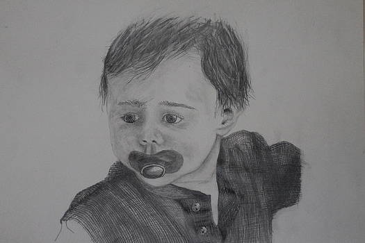 Child With Pacifier by Ralph Hecht
