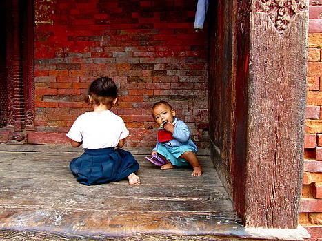 Children in Durbar Square by Stephanie Olsavsky