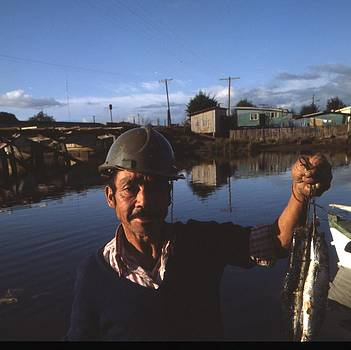 Chilean Fisherman With His Catch For Sale by Thomas D McManus