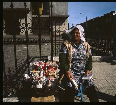 Chilean Religious Craft Seller by Thomas D McManus