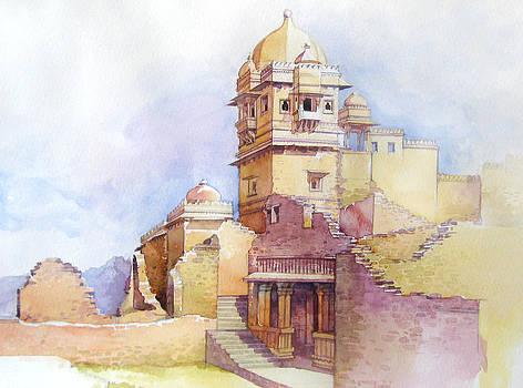 Chittorgarh fort by Ravindra Kajari