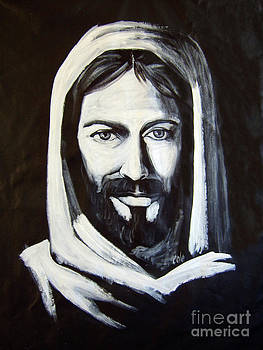 Christ smiling by Larry Cole
