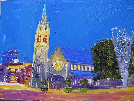 Christchurch At Night by Luxmi Benjamin