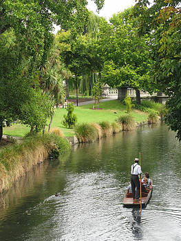 Christchurch Punting by Jenny SW Lee