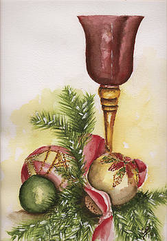 Christmas Candle by Clarise Boudreaux