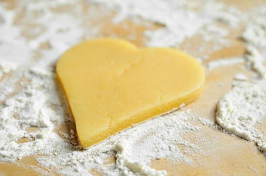 Christmas cookie heart shape by Matthias Hauser