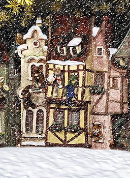 Christmas Cottage by Cecil Fuselier