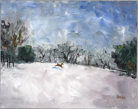 Christmas Painting by Susan Moore