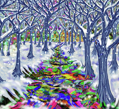 Christmas Tree Path by Steve Farr