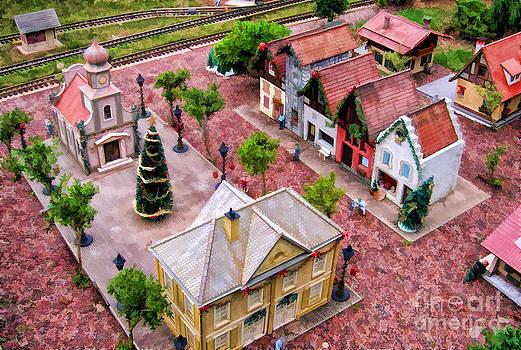 Christmas Village by Nora Martinez