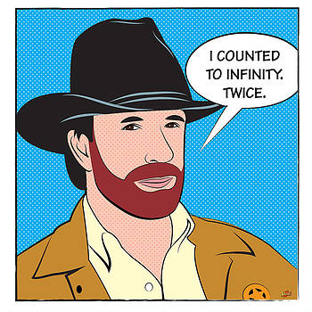 Chuck Norris. I Counted To Infinity. Twice by Yvan Goudard