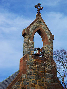 Church Bell Tower by Valerie Longo