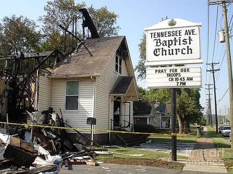 Church fire by Timothy Fleming