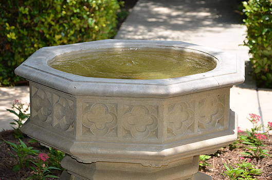 Church Fountain by Kathy Lewis