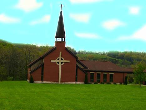 Church in Hermann by Patricia Erwin