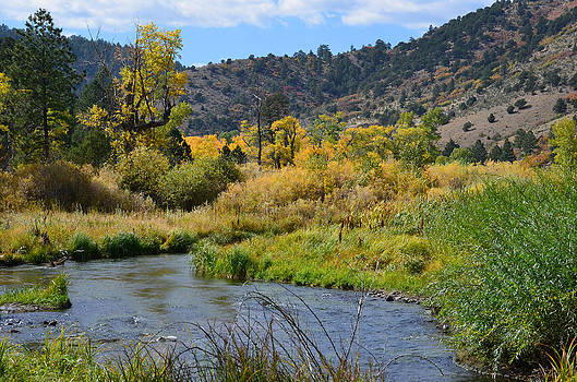 Cimarron River in the Fall by Charles Frieda