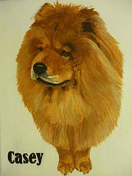 Cinnamon Chow Chow Pet Memorial Oil Painting 16 x 20 inches by Pigatopia by Shannon Ivins